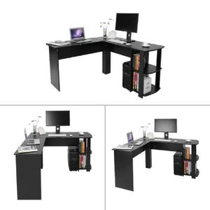 MEUBLE INFORMATIQUE Bureau Informatique table d'ordinateur en forme L