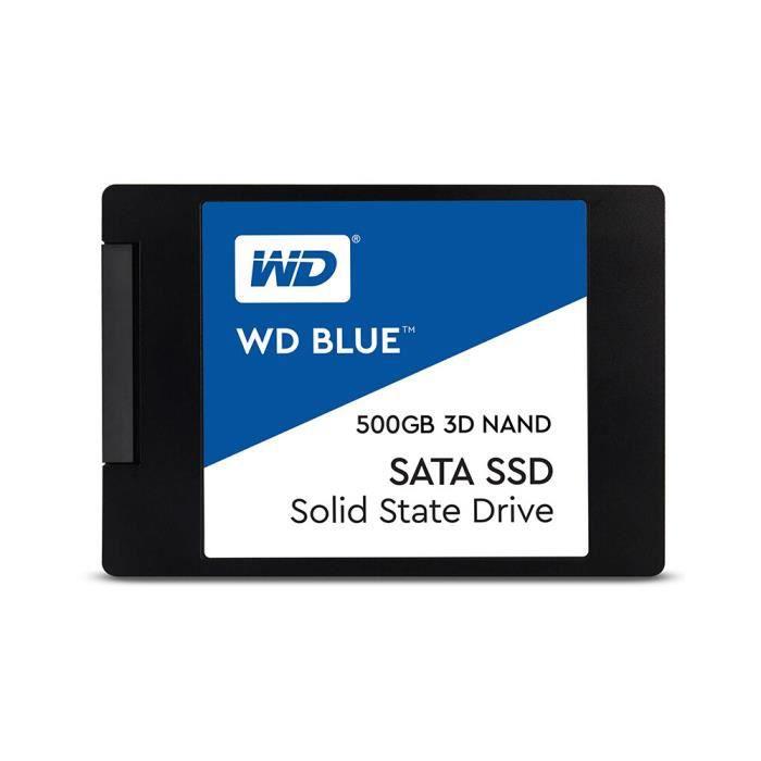 Western Digital WD Bleu PC 500D SSD 3D NAND SATA3 6 Go - s...
