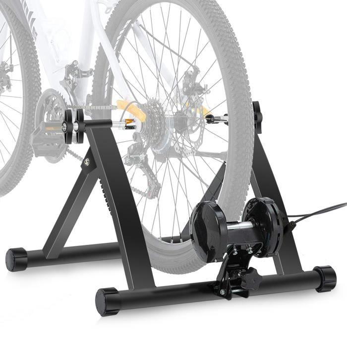 Home trainer vélo entraîneur de vélo pliable acier de résistance entraînement vélo frein -YAP