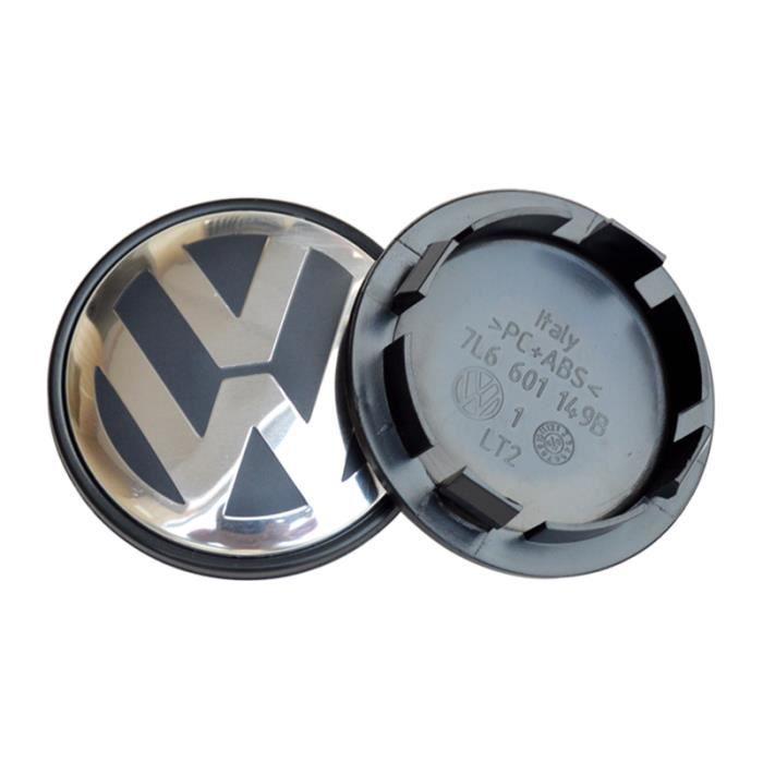 4 x Caches Moyeux Centre Roue Logo VW pour Volkswagen 70mm Diamètre 7L6601149B