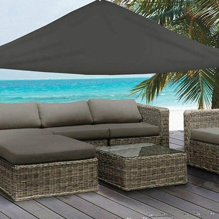 Toile d\'ombrage des voiles du soleil Auvent de jardin Écran de terrasse avec couverture en été Sun et corde