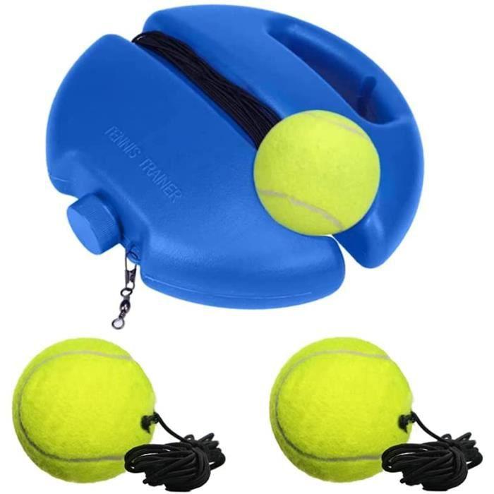 Trsnzul Kit d'entraîneur de Tennis Équipement de Formation de Tennis Tennis Trainer Rebound Balls Rebond de Tennis avec 3 Balle A81