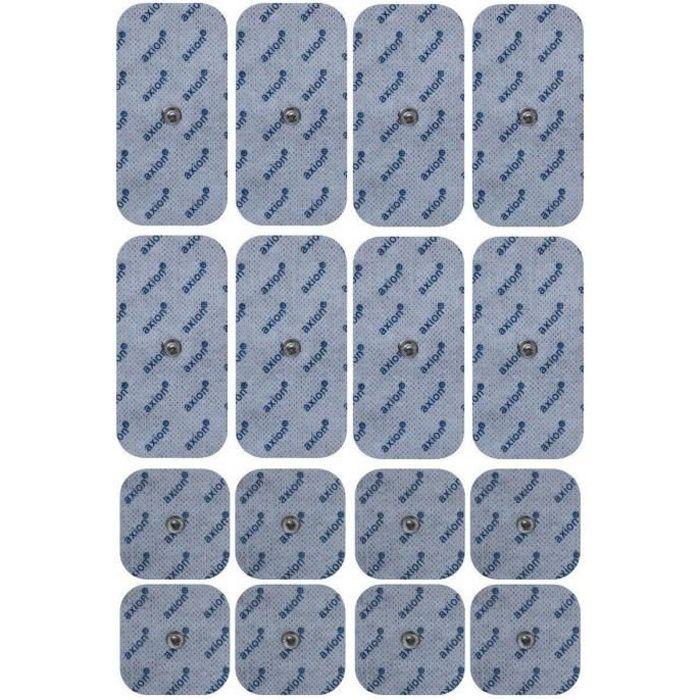 AXION - 16 électrodes compatibles Sanitas SEM 40/41/42/43/44 et Beurer EM40/41/49/80 TENS-EMS - snap