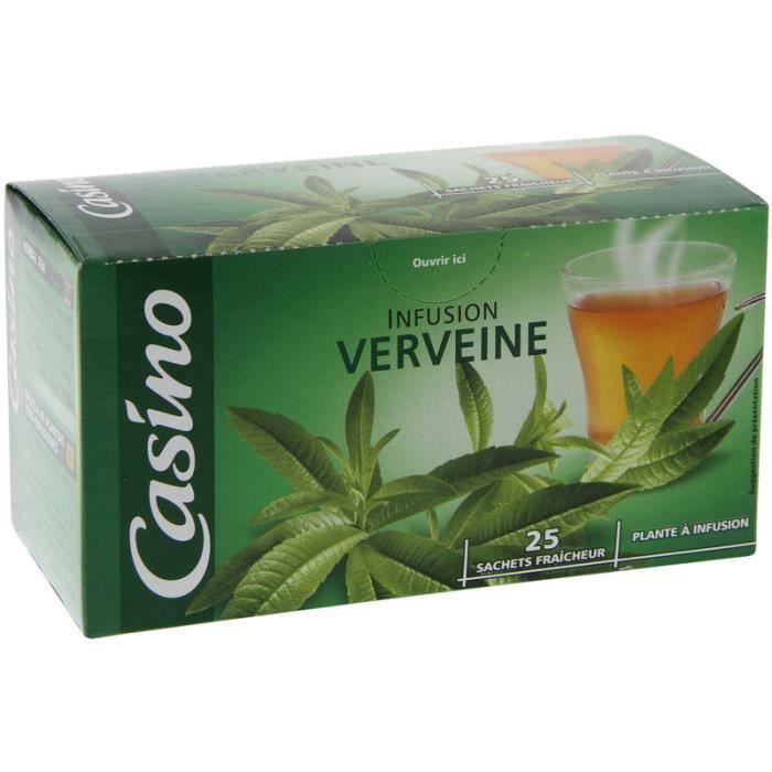 CASINO Infusion verveine - 25 sachets - 32,5 g