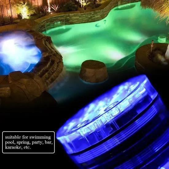 GOBRO/2 pcs Lampe étanche à LED multifonctionnel de piscine sous-marine avec télécommande pour piscine/fête/bar/karaoké