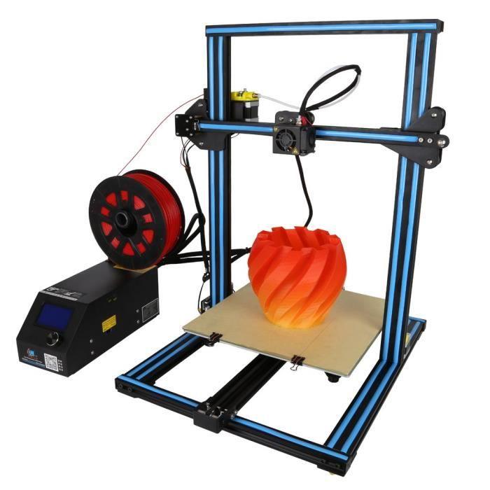 Imprimante 3D Cr 10S Creality à Double Filament Axe Z Suivi 300x300x400mm Bleu