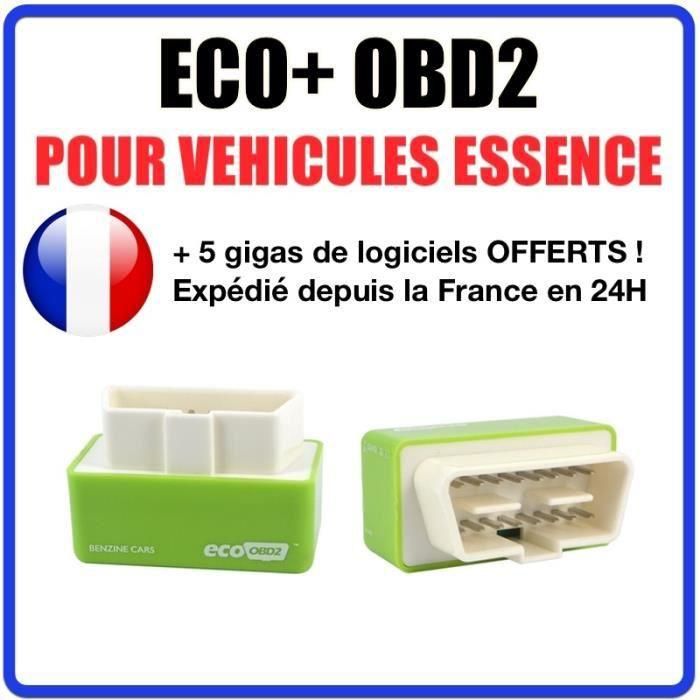 ECO+ OBD2 pour véhicule ESSENCE - Economie de carburant FLEXFUEL Bio Ethanol E85