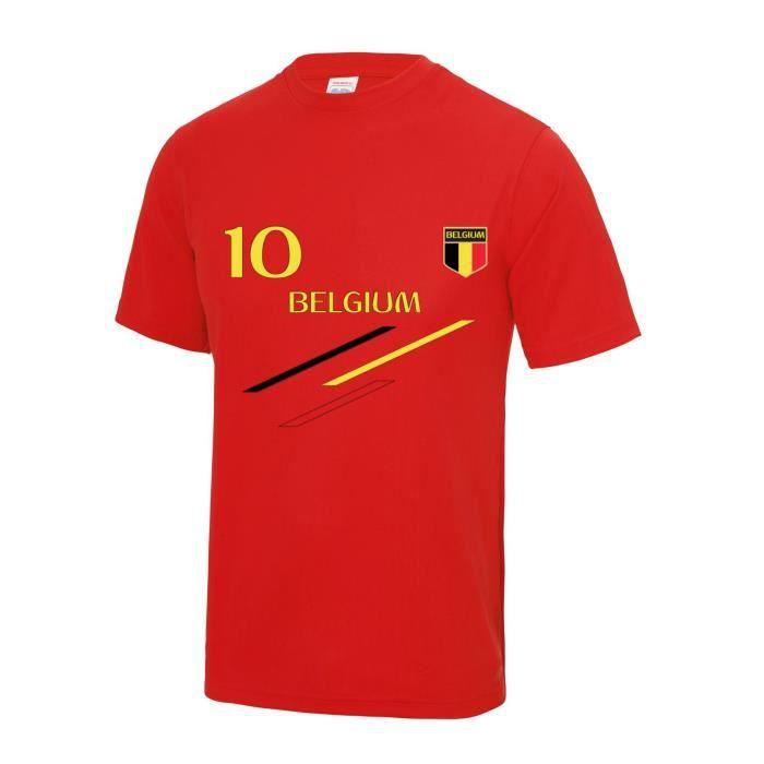 Maillot - Tee shirt de foot Belgique enfant Taille de 3 à 13 ans (3 / 4 ans - rouge)