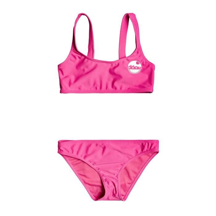 Maillot de Bain Rose 2 Pièces Fille Roxy EARLY