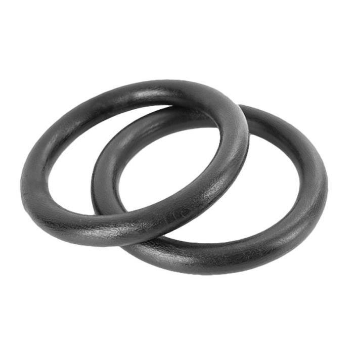 1 paire d'anneau de gymnastique anneau de traction en plastique ABS de force corporelle pour l'entraînement