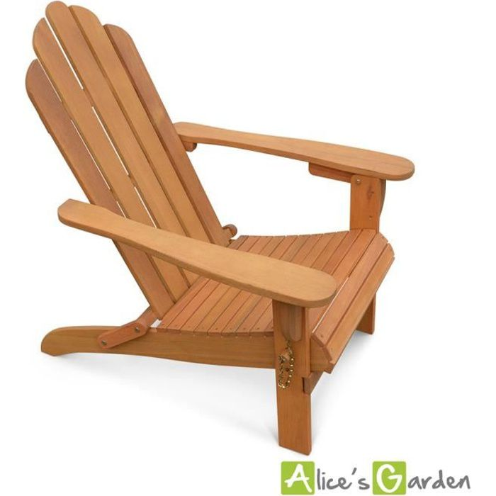 fauteuil de jardin en bois adirondack salamanca eucalyptus. Black Bedroom Furniture Sets. Home Design Ideas