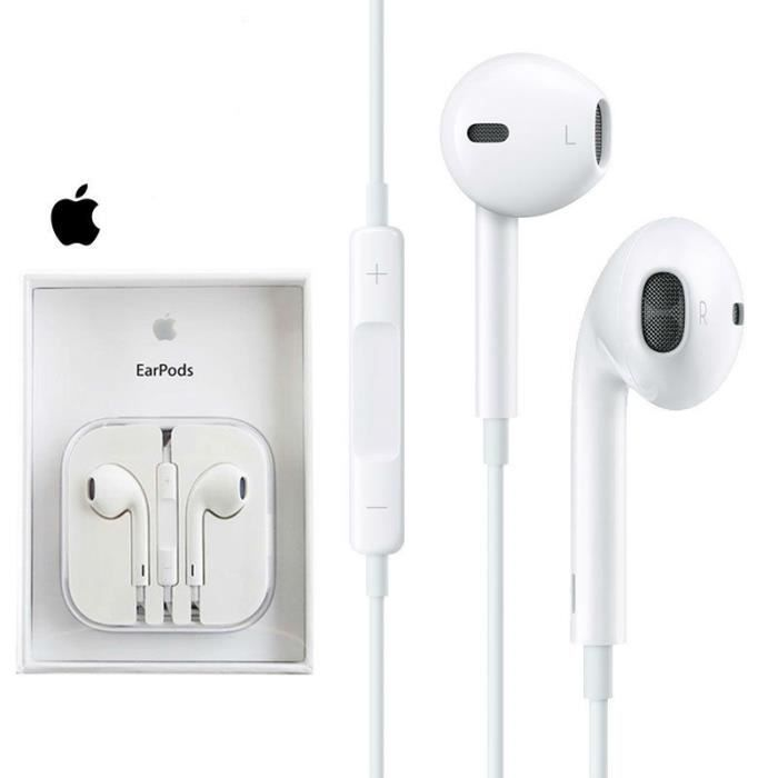 apple ecouteurs iphone 6 authentiques avec mini jack 3 5mm intra auriculaires compatibles avec. Black Bedroom Furniture Sets. Home Design Ideas