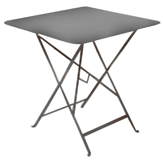 Table de jardin pliante metal Carree Grise 70x70cm - Achat ...