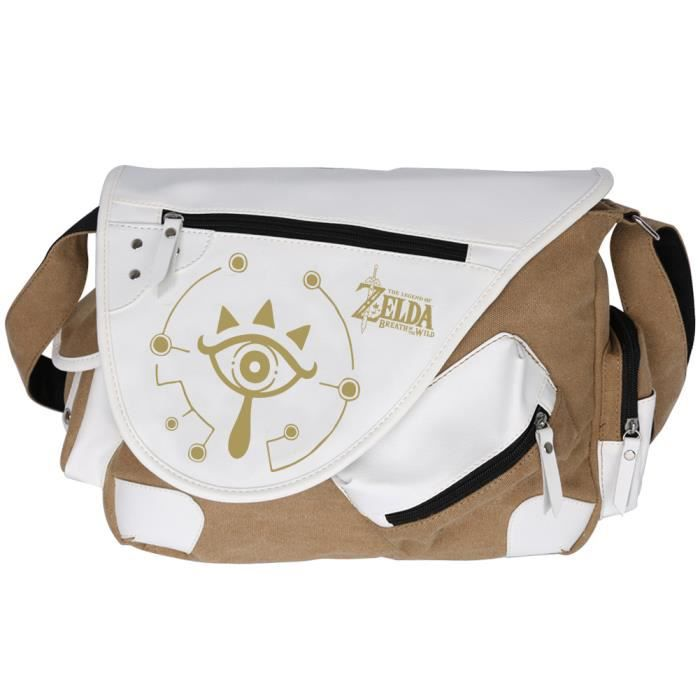 Anime Zelda Breath of the Wild Toile Messenger Bag Sac à bandoulière Satchel Cosplay Bag