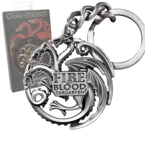 Porte-clés Targaryen Fire and Blood Game of Thrones Pause Canap ... f83047b75f8