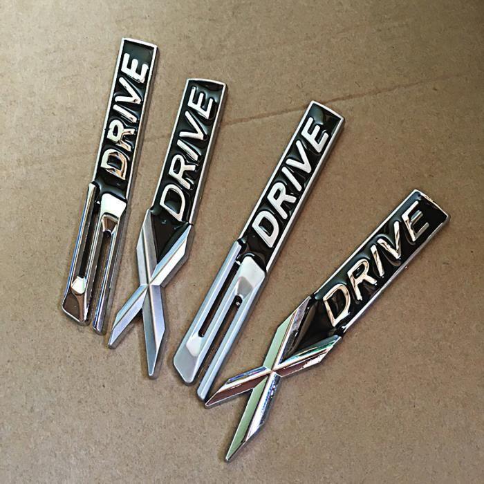 BMW XDrive Embl/ème Badge M/étal Chrome Auto Autocollant Logo Voiture 3D 1 2 3 X1 X3 X4 X5