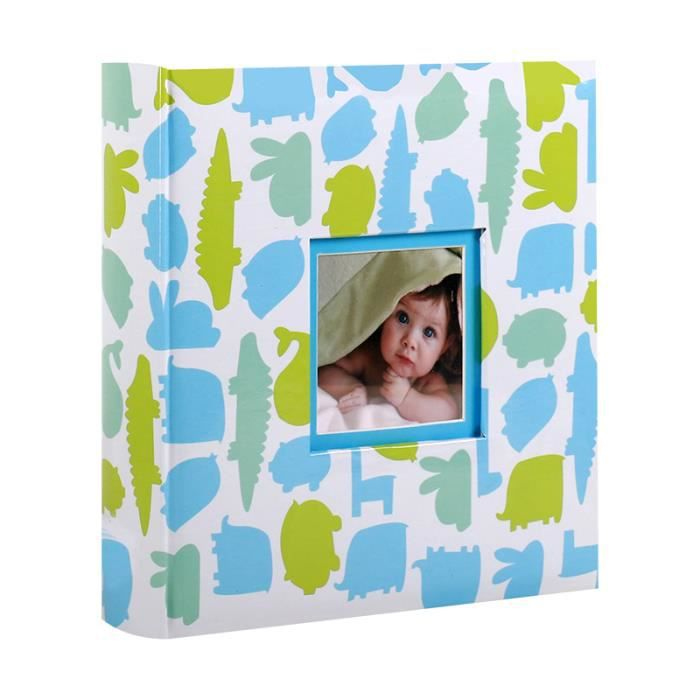 album photo naissance pochettes dino bleu pour 200 photos 10x15 cm achat vente coffret. Black Bedroom Furniture Sets. Home Design Ideas