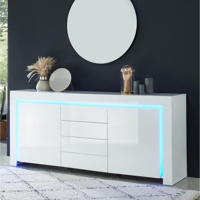 meuble blanc laquee