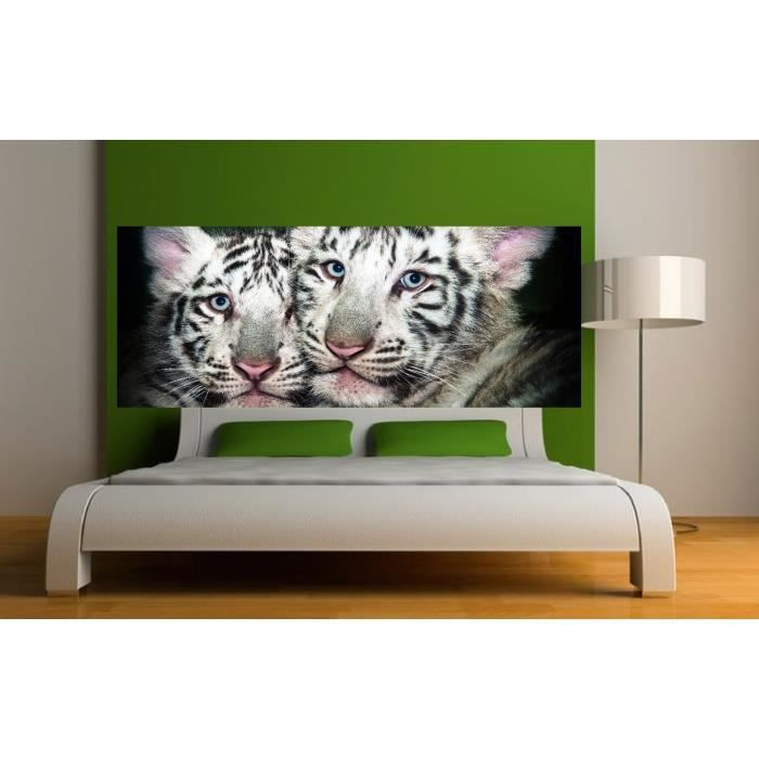 stickers t te de lit d co tigres dimensions 120x46cm achat vente stickers cdiscount. Black Bedroom Furniture Sets. Home Design Ideas