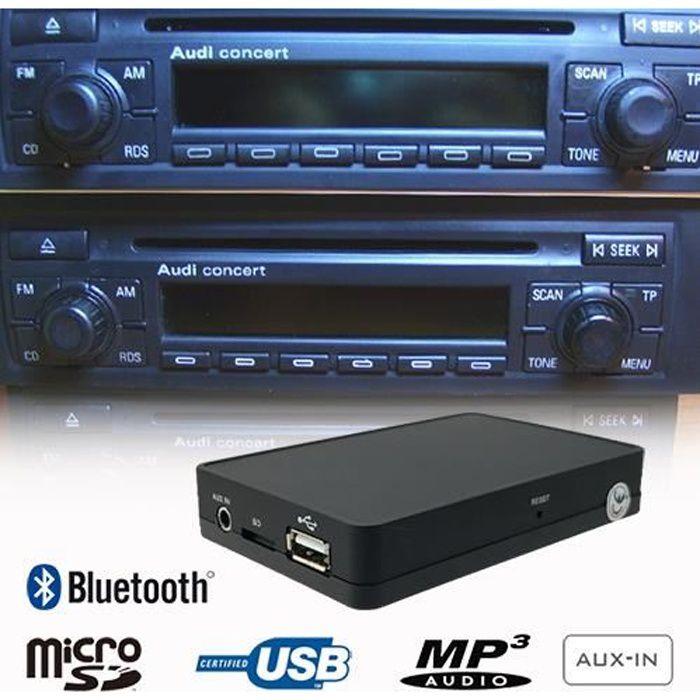 KIT POUR VOITURE Bluetooth USB SD Kit Mains Libres adaptateur pour