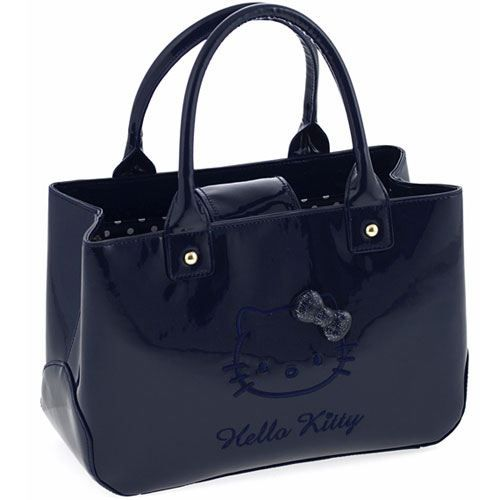 Sac à main Hello Kitty bleu marine By Camomilla Synthétique ...