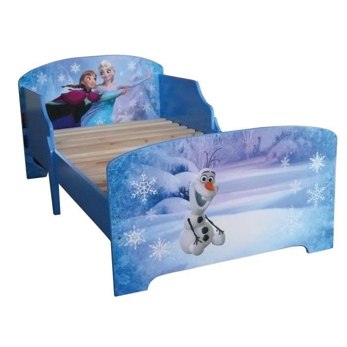 la reine des neiges lit enfant avec lattes 70 140 cm achat vente structure de lit cdiscount. Black Bedroom Furniture Sets. Home Design Ideas
