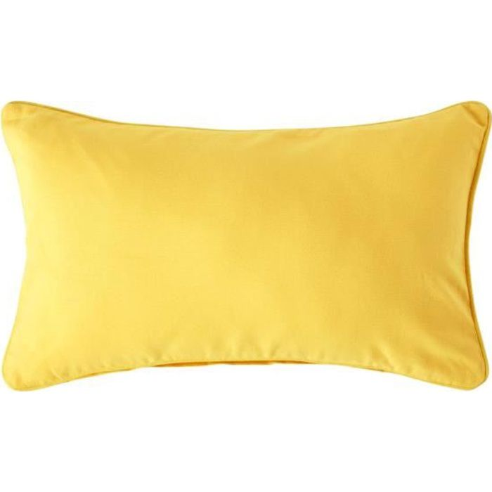 coussin d houssable jaune 30 x 50 cm achat vente. Black Bedroom Furniture Sets. Home Design Ideas