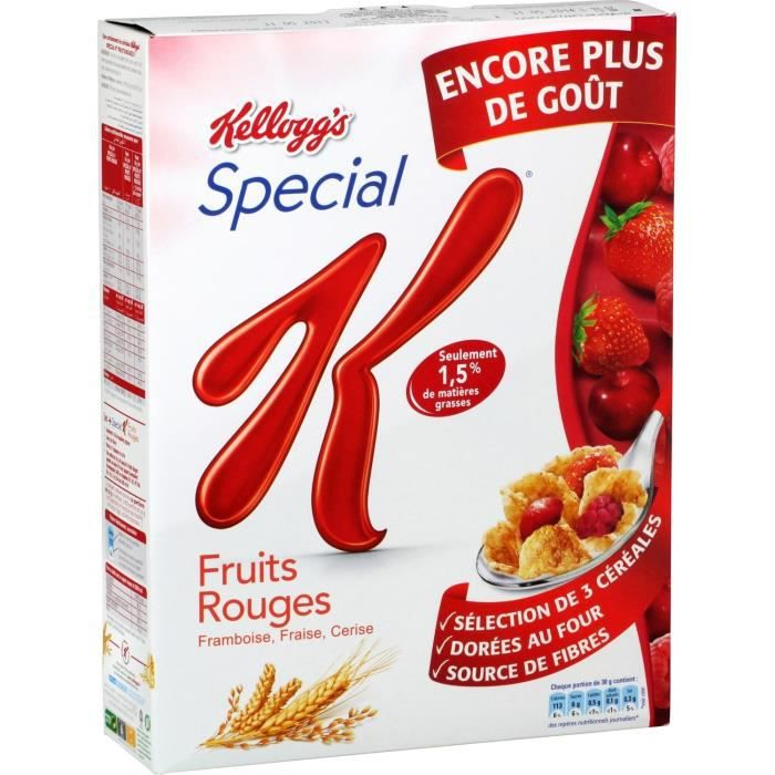 kellogg 39 s sp cial k c r ales fruits rouges 300g achat vente c r ales forme kellogg 39 s special. Black Bedroom Furniture Sets. Home Design Ideas
