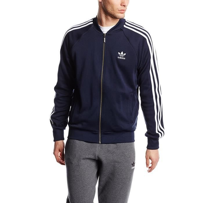adidas superstar bleu veste pour homme bleu achat vente veste cdiscount. Black Bedroom Furniture Sets. Home Design Ideas
