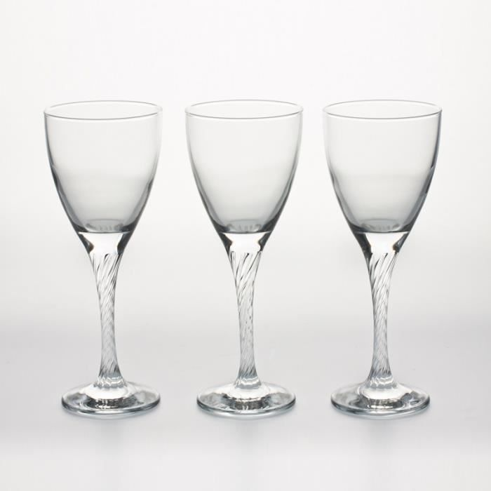 pasabahce lot de 3 verres vin 18cl twist achat vente verre vin cdiscount. Black Bedroom Furniture Sets. Home Design Ideas