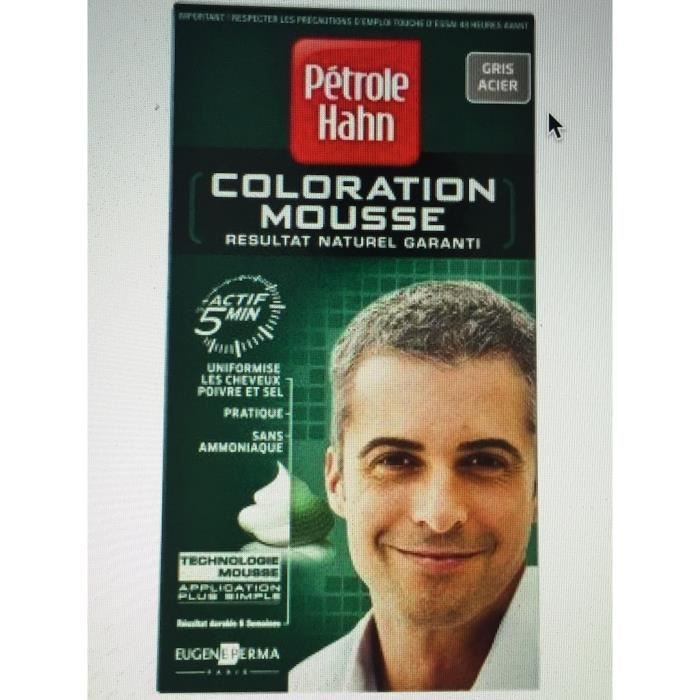 coloration coloration mousse homme gris acier - Shampoing Colorant Homme