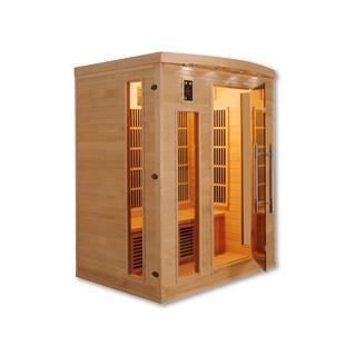 Sauna infrarouge cabine 3 places apollon 2280w achat for Sauna infrarouge exterieur