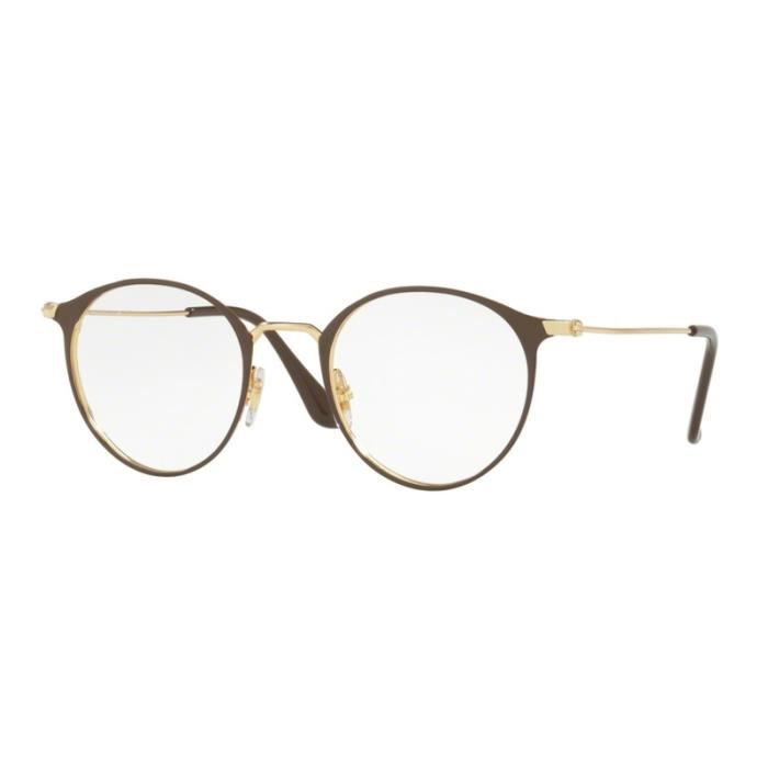 9a0d9073b2210 Lunettes de vue Ray-Ban RX6378 2905 Gold Shiny Brown 49-21 Brun - Or ...