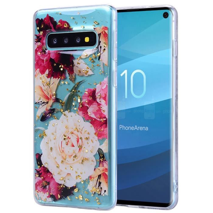 COQUE - BUMPER Coque Samsung Galaxy S10+ / S10Plus, Etui Feuille