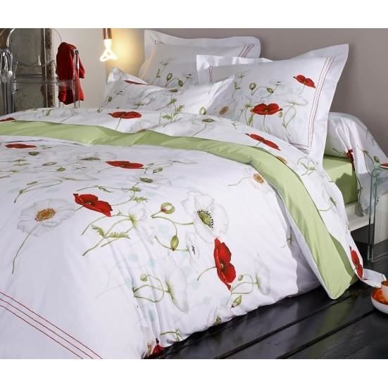 S duction coquelicot ensemble housse de couette 240x220 for Ensemble couette