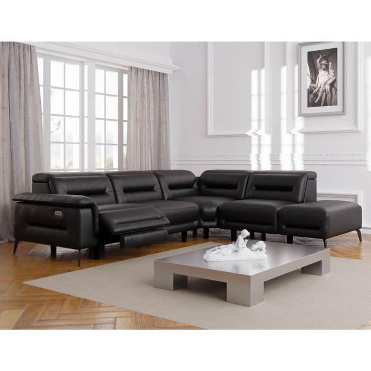 CANAPÉ - SOFA - DIVAN Canapé d'angle relax électrique design en simili c
