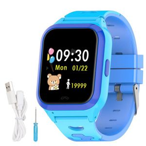 BATT. MONTRE CONNECTÉE DS60 GPS + LBS + WiFi Montre Enfant Multipositionn