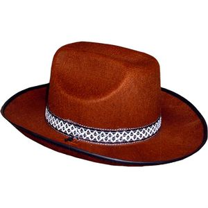 CHAPEAU - PERRUQUE Chapeau Feutre Cow-boy Marron