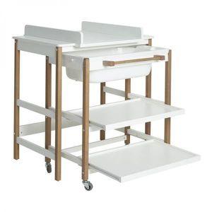 TABLE À LANGER Meuble de bain Quax Smart White/Naturel