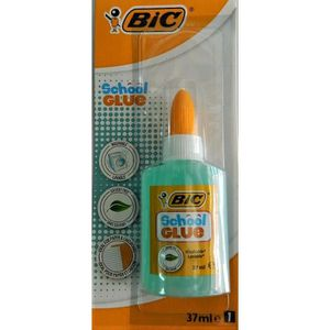 COLLE - PATE ADHESIVE BIC Colle gel SCHOOL GLUE 37 ml