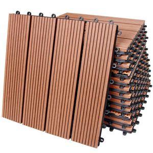 REVETEMENT EN PLANCHE 11x Dalles de terrasse en bois composite WPC Class