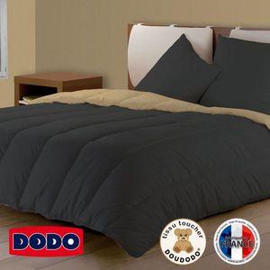 COUETTE DODO Couette Bicolore Gris /Beige 140x200cm