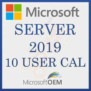 SYSTÈME D'EXPLOITATION Microsoft Server 2019 User 10 CAL  RDS  Avec Factu