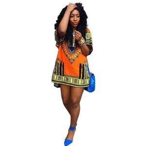 ROBE Robe femme africaine Imprimer droite Casual Imprim