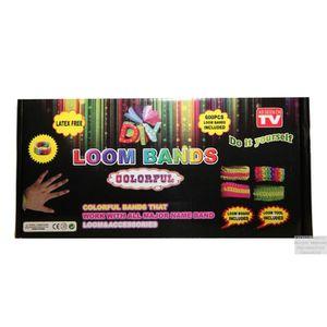 CRÉATION DE BIJOUX Kit Bracelet Rainbow Loom 600 élastiques !