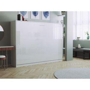 LIT ESCAMOTABLE SMARTBett Basic 140x200 horizontal blanc/blanc bri