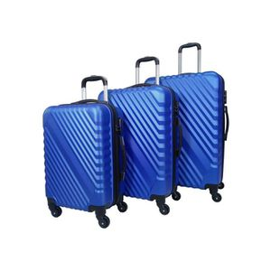 SET DE VALISES Set de 3 valises 4 roues rigide Bleu Navy - Overli