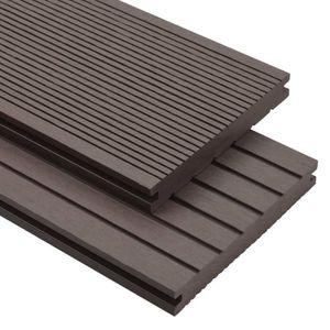 CLÔTURE - GRILLAGE Panneaux de terrasse - accessoires WPC 16m² 2,2 m