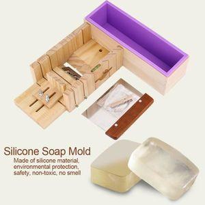 Moule à savon Moule à savon en silicone Moule à gâteau avec Boît