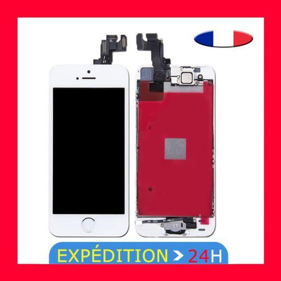 Oobest Ecran Blanc Pour Iphone 5 Se Lcd Vitre Tactile Bouton Complet Sur Chassis Achat Pièce Téléphone Pas Cher Avis Et Meilleur Prix Cdiscount